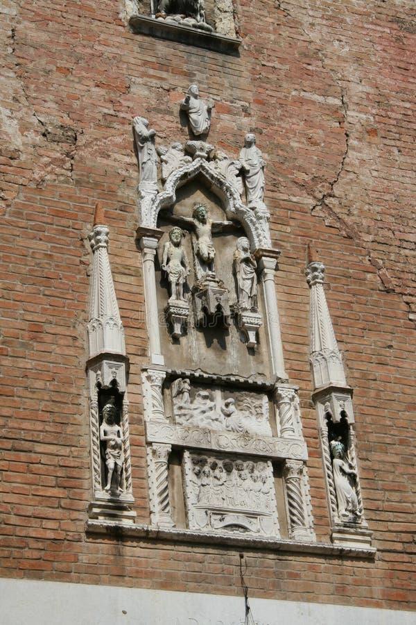 Venetië, haut-reliëf royalty-vrije stock foto