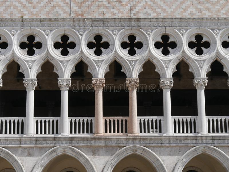 Venetië - Hertogelijk paleis in het vierkant van San Marco royalty-vrije stock afbeelding