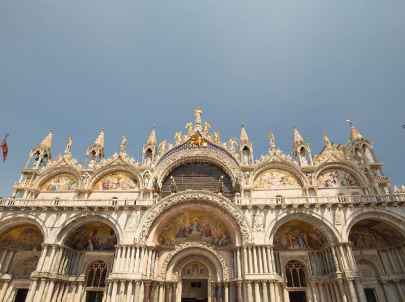 Venetië/historische architectuur in het belangrijkste vierkant van de stad Dodge, s-paleis stock foto