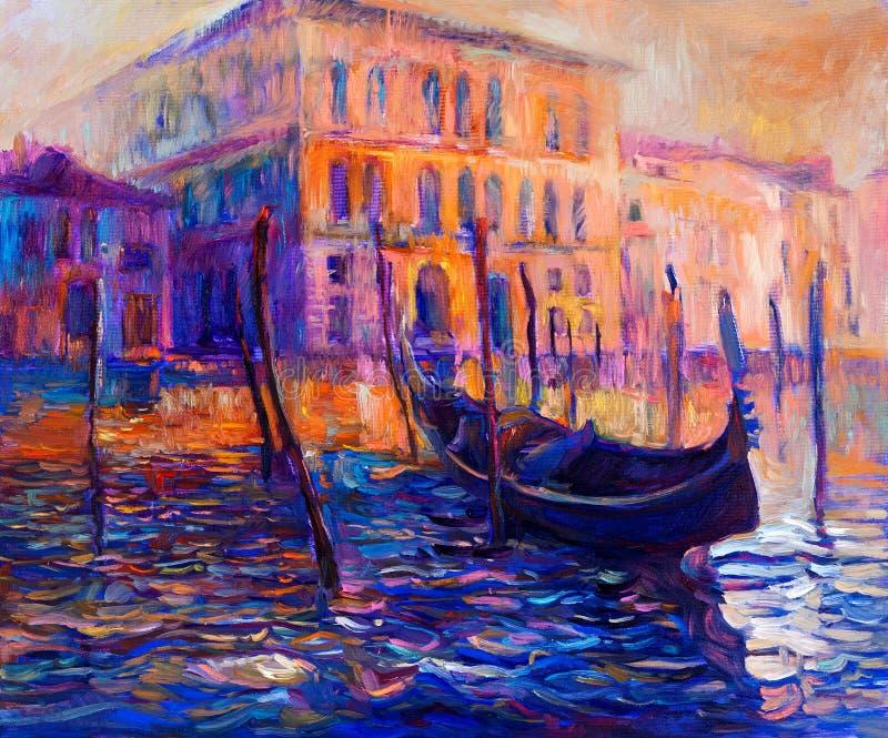 Venetië, Italië vector illustratie