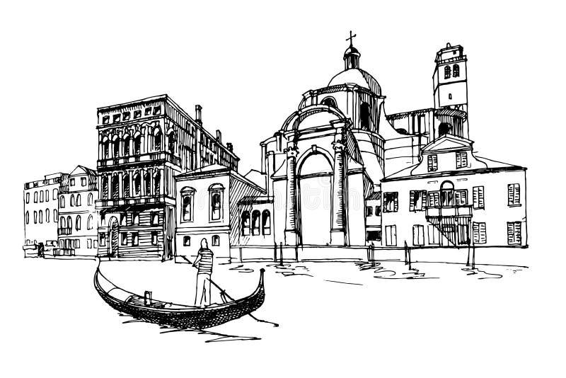 Venetië, Italië stock illustratie