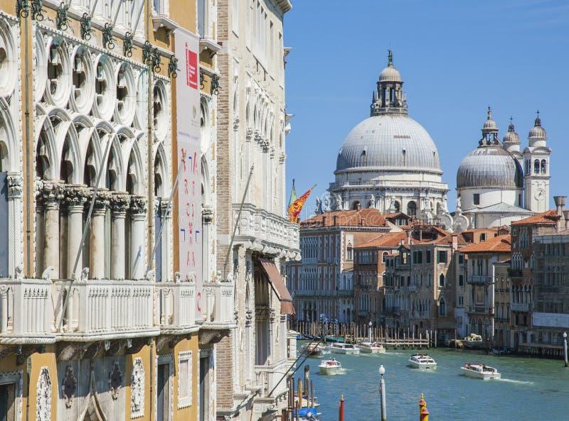 Venetië, Italië - Grand Canal/historische gebouwen stock fotografie
