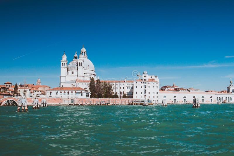 Venetië Italië met blauwe lucht, kopieerruimte royalty-vrije stock afbeelding