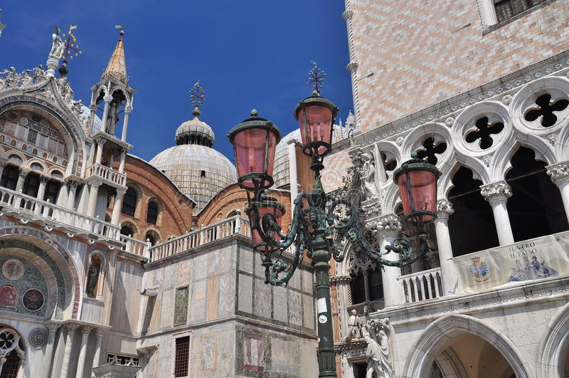 Venetië, Italië. Piazza San Marco architectuur stock fotografie