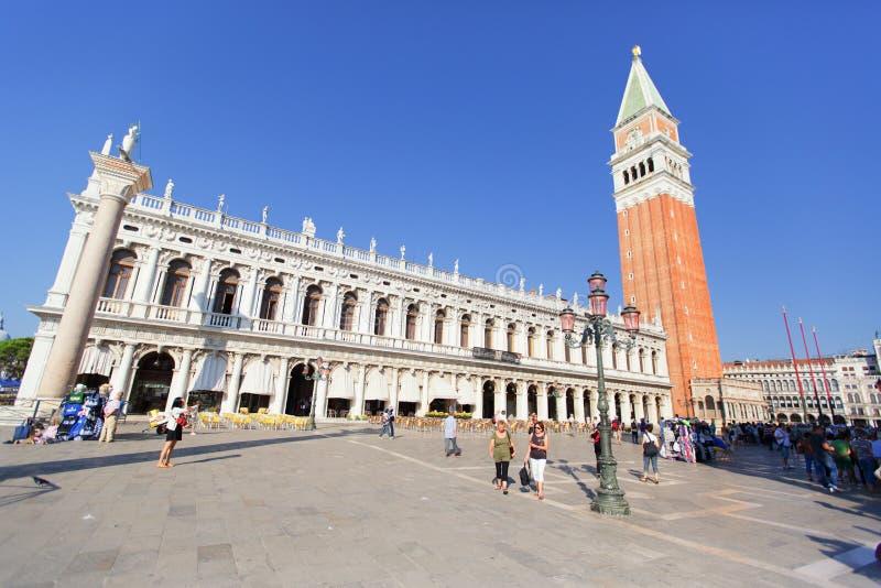 VENETIË, ITALIË - SEPTEMBER 19, 2015: Piazza San Marko in Venetië, stock foto's
