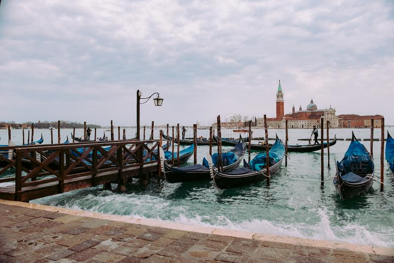 Venetië in Januari royalty-vrije stock afbeeldingen