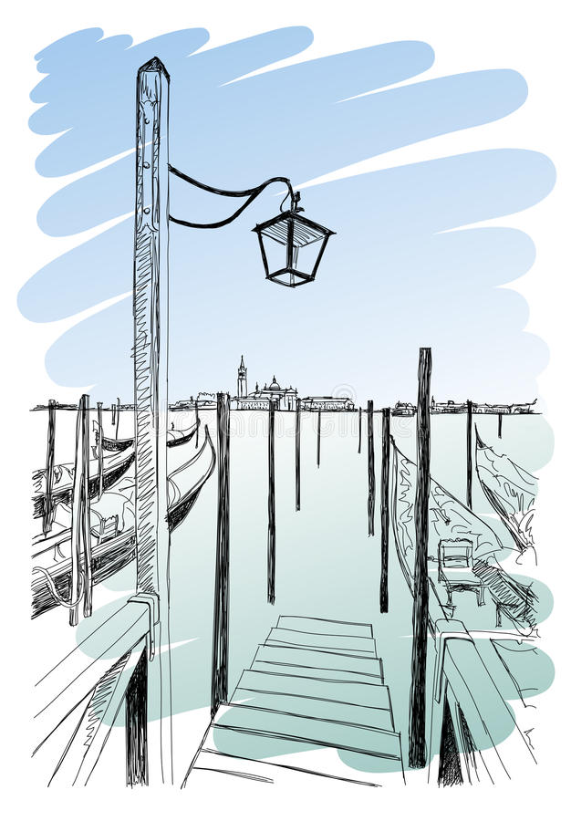 Venetië Kadepiazza San Marco royalty-vrije illustratie