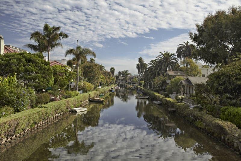 Venetië-kanaal Los Angeles, Californië, Verenigde Staten stock afbeeldingen