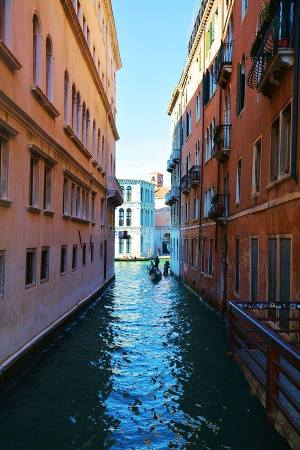 Venetië, klein kanaal stock foto