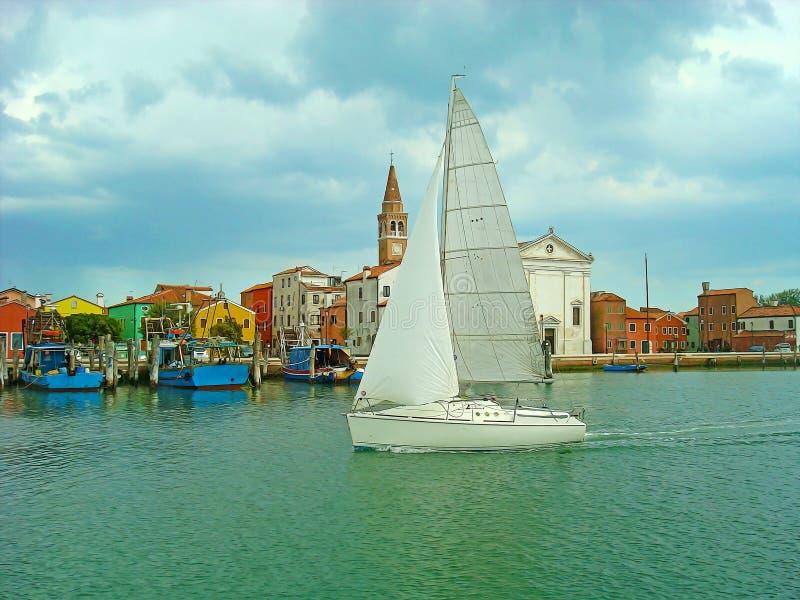 Venetië Kleurrijke mening met zachte olieverfschilderijfilter royalty-vrije stock fotografie