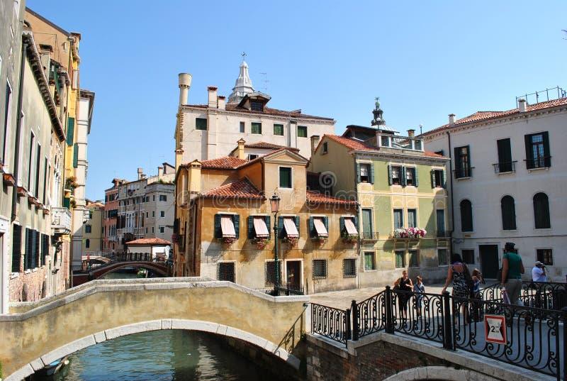 Venetië is oude en mooie stad royalty-vrije stock afbeeldingen