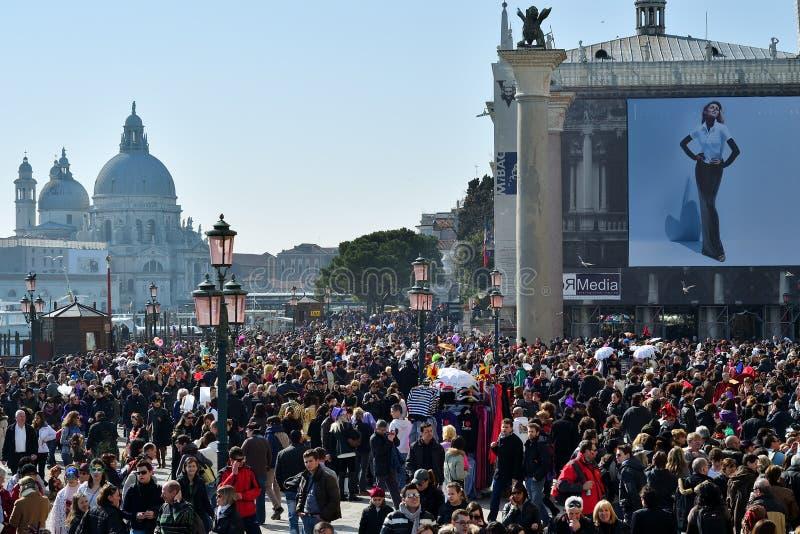 Venetië tijdens Carnaval, Italië stock foto's
