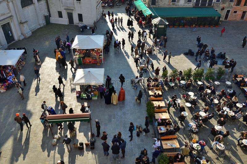 Venetië tijdens Carnaval, Italië royalty-vrije stock afbeelding