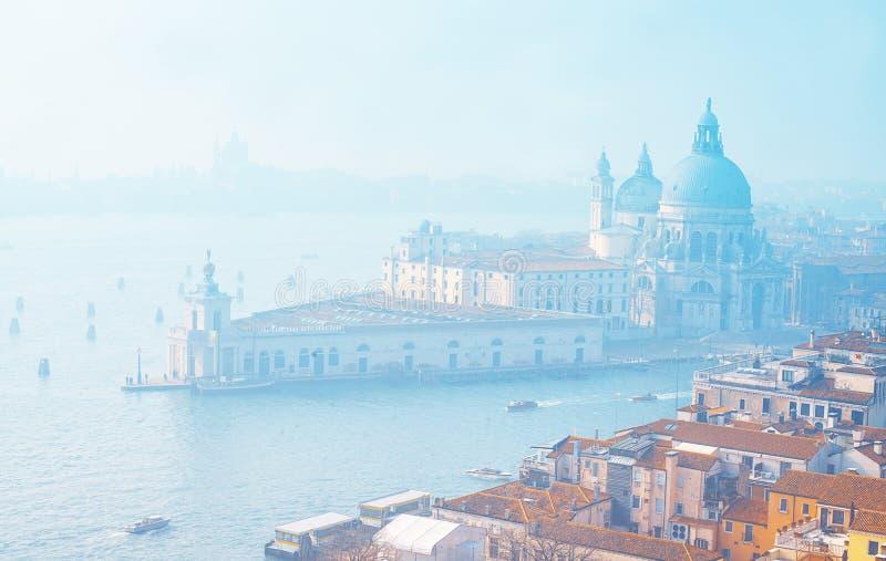 Venetië van hierboven Lucht mening van Venetië, Italië Verbazende cityscape van Venetië met eilanden stock foto