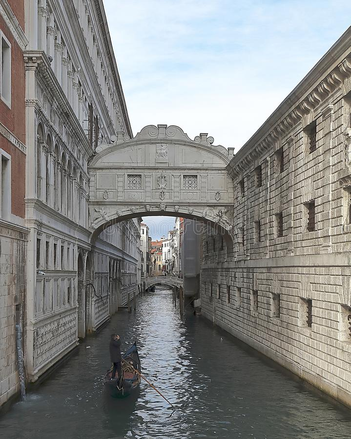 Veneti?, Itali? Brug van sighs ponte deisospiri royalty-vrije stock foto