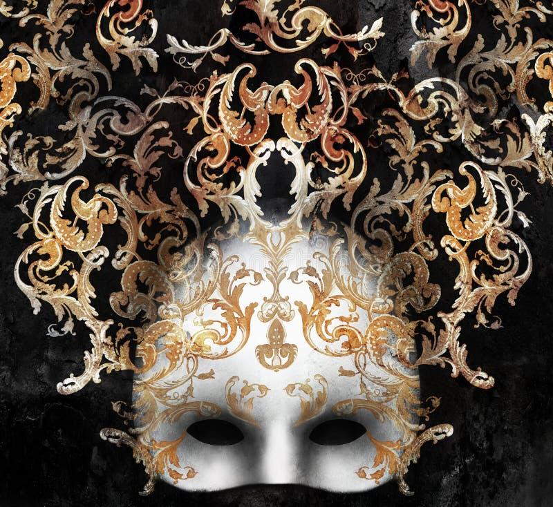 Venetiaans Barok Masker stock fotografie