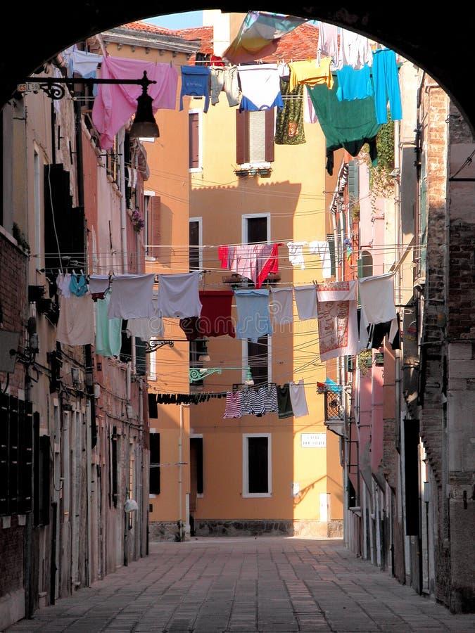 Venetiaanse binnenplaats stock foto