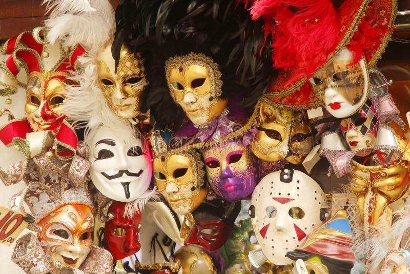 Venetiaanse Carnaval-maskers royalty-vrije stock afbeeldingen