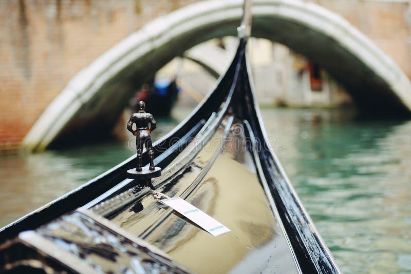 Venetiaanse gondel royalty-vrije stock foto