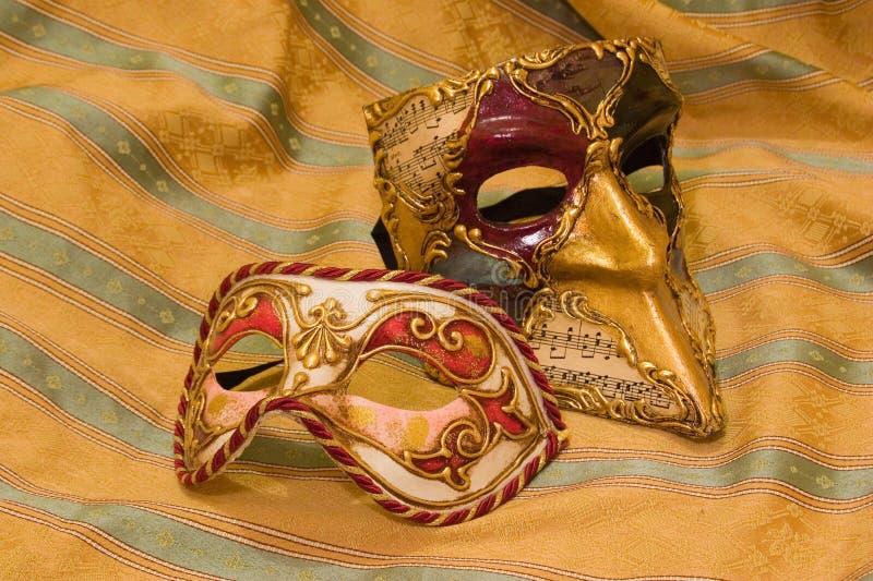 Venetiaanse Maskers royalty-vrije stock afbeeldingen