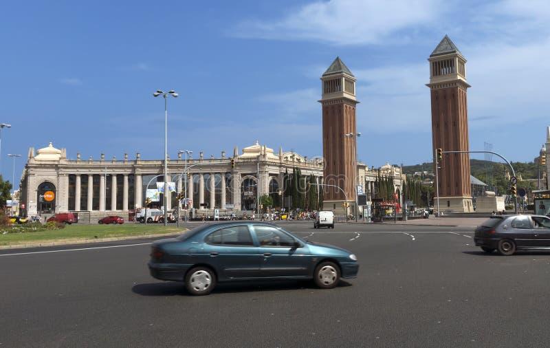 Venetiaanse torens en Nationaal Museum stock foto