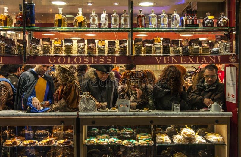 Venetian кафе стоковые изображения rf