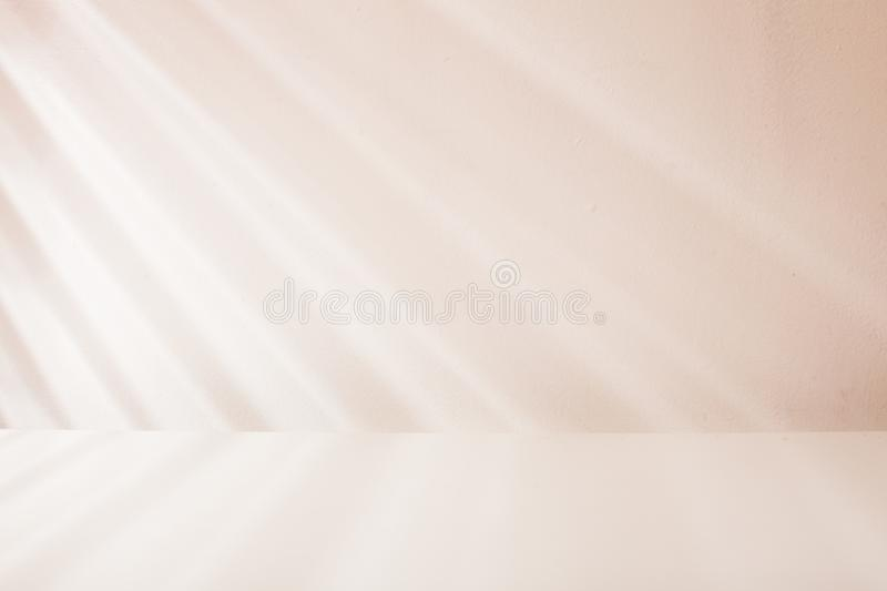 Venetian blind light on the wall stock photography