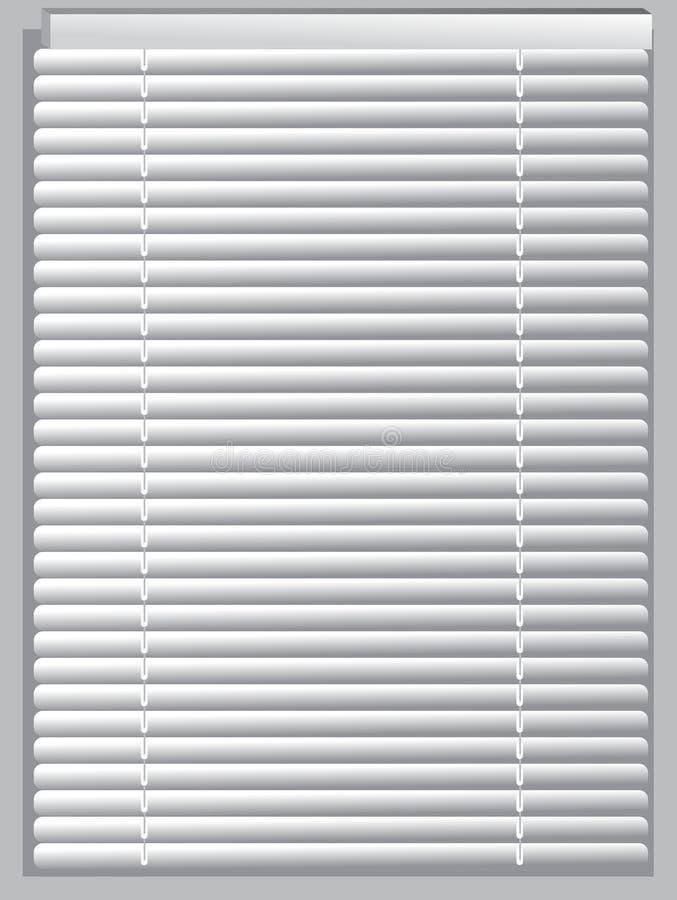 Venetian blinds. A white venetian blinds stock illustration