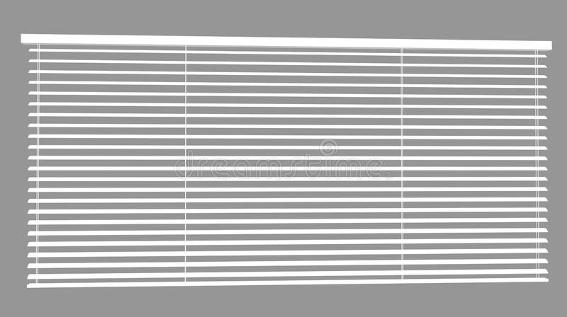 Venetian Blinds 3d max. Window plastic blinds in a shade of gray royalty free illustration