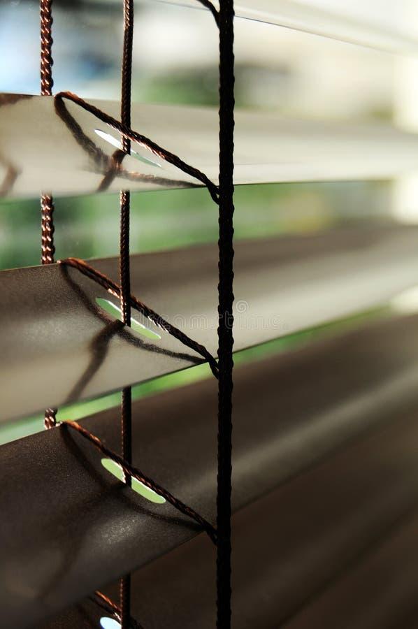 Venetian blinds detail stock photo