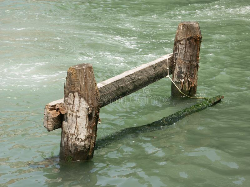 Venetian Boat Mooring Stock Photos