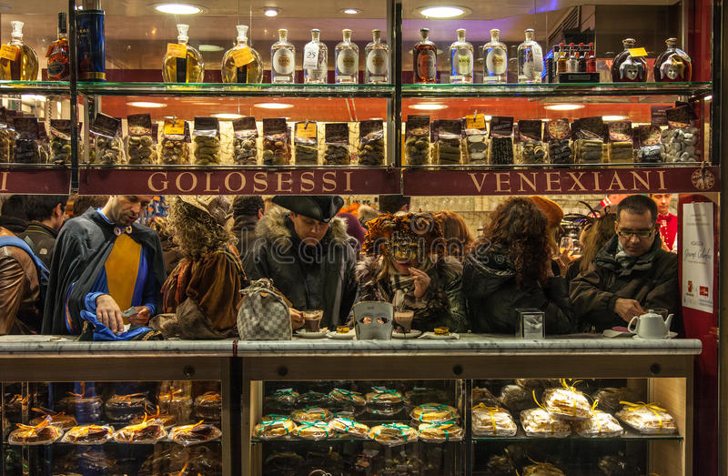 Venetian Cafe royaltyfria bilder