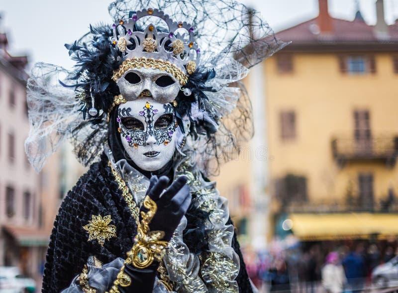 Venetian Carnival, Annecy, France stock image