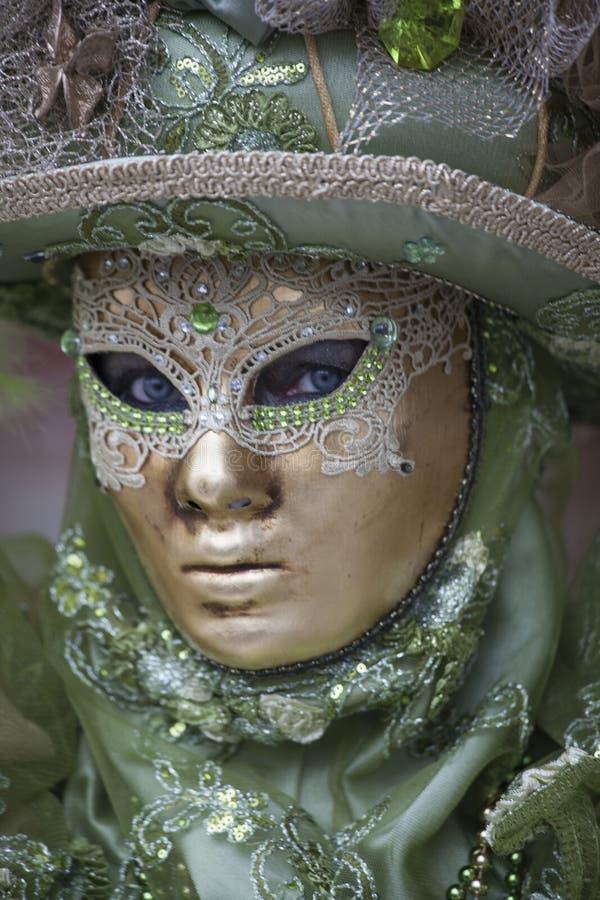 Beautiful Venetian Carnival costume and mask Venice. Beautiful Venetian Carnival costume mask Venice royalty free stock photo