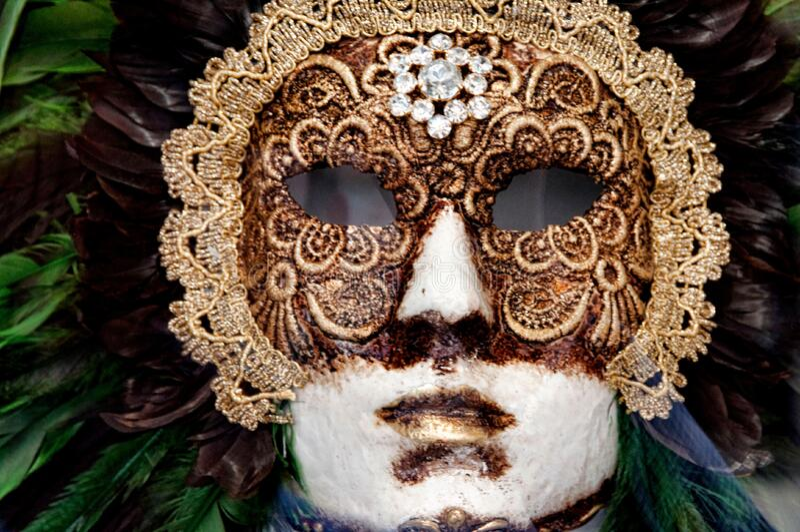 Venetian Carnival Mask - Maschera di Carnevale - Venice Italy - Creative Commons by gnuckx stock photo