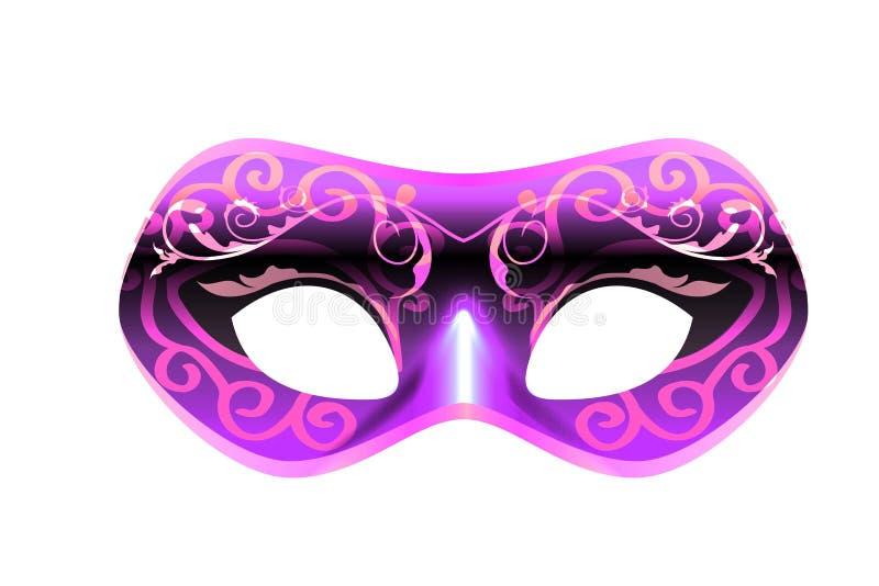 Venetian carnival mask on white . vector illustration