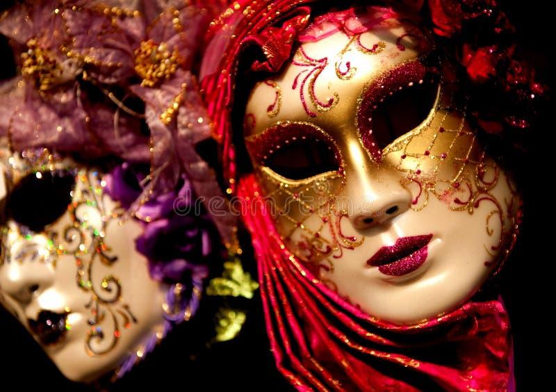 Venetian Carnival Masks stock images