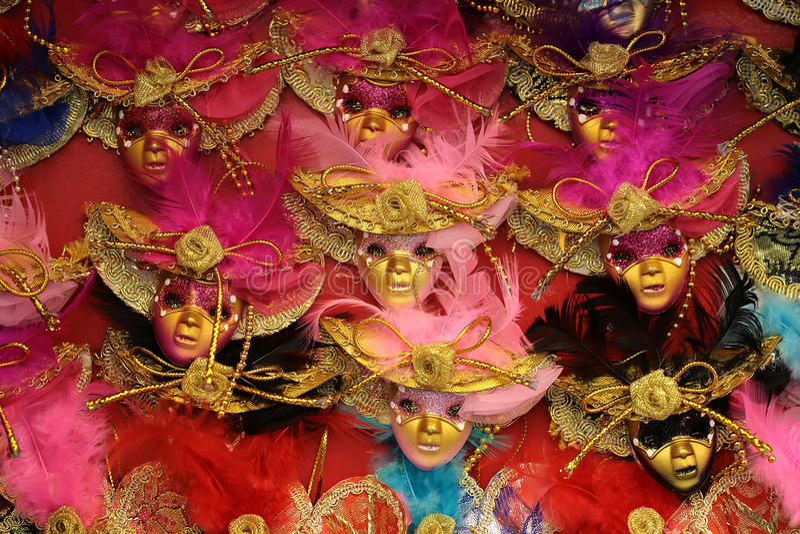 Venetian carnival masks for sale stock photo