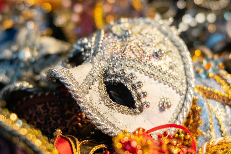 Venetian carnival masks, traditional hand-made. Venetian carnival masks, traditional hand made stock images