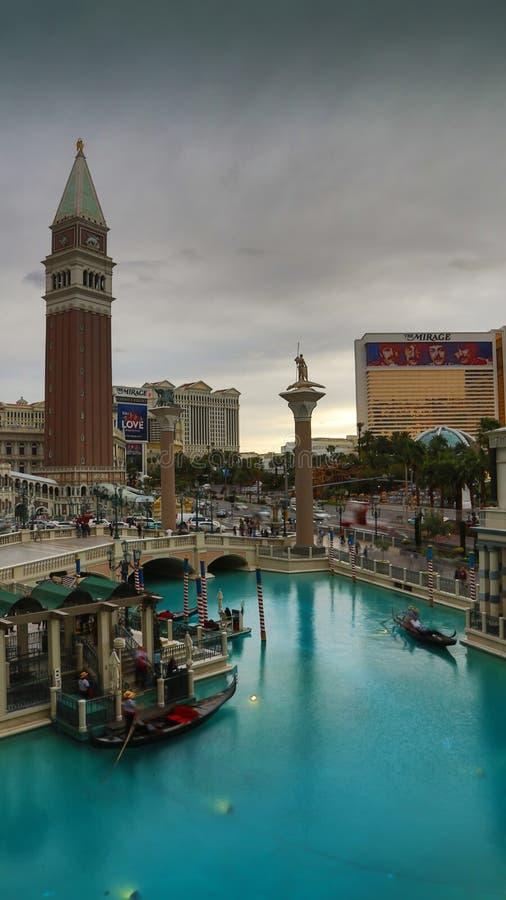 Venetian Casino. Las Vegas, Venetian Casino , by night stock photography