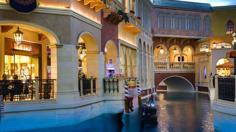 Venetian Casino. Las Vegas, Venetian Casino , by night stock image