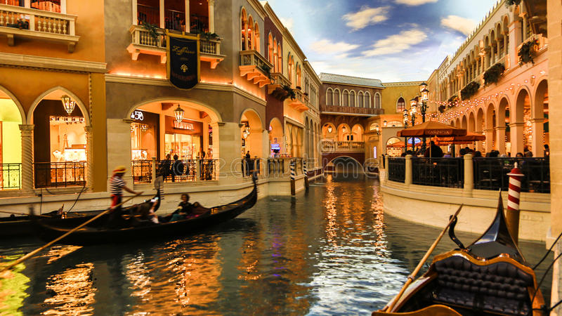 Venetian Casino. Las Vegas, Venetian Casino , by nightinside view stock photography