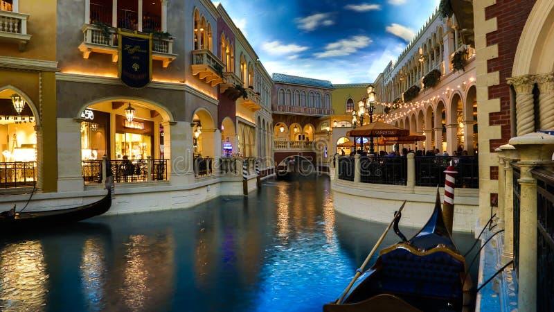 Venetian Casino. Las Vegas, Venetian Casino , by nightinside view stock photos