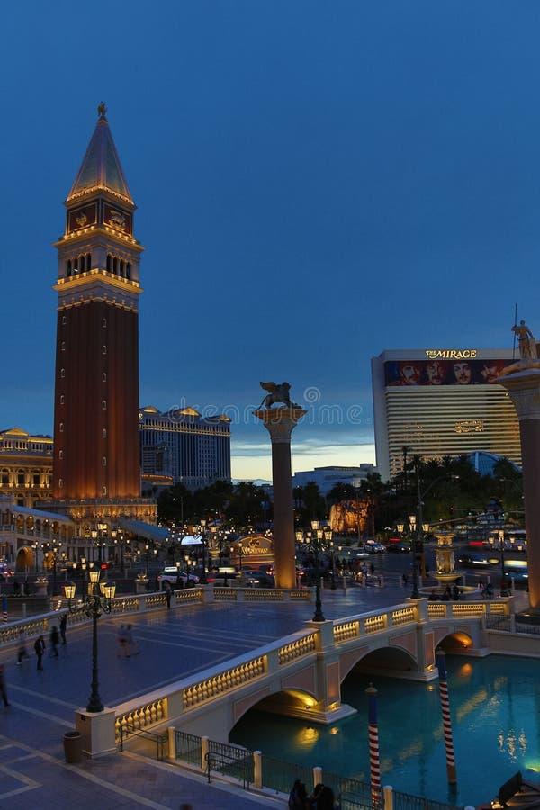Venetian Casino. Las Vegas, Venetian Casino , overview, evening royalty free stock image