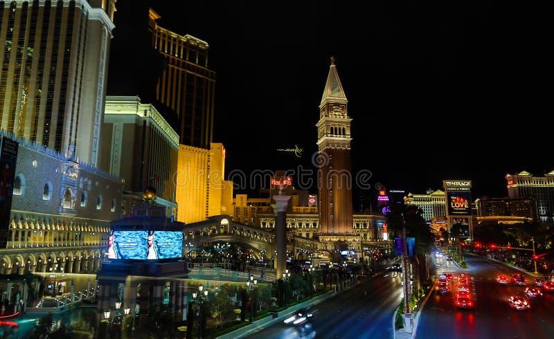 Venetian Casino. Las Vegas, Venetian Casino , overview, evening royalty free stock photos