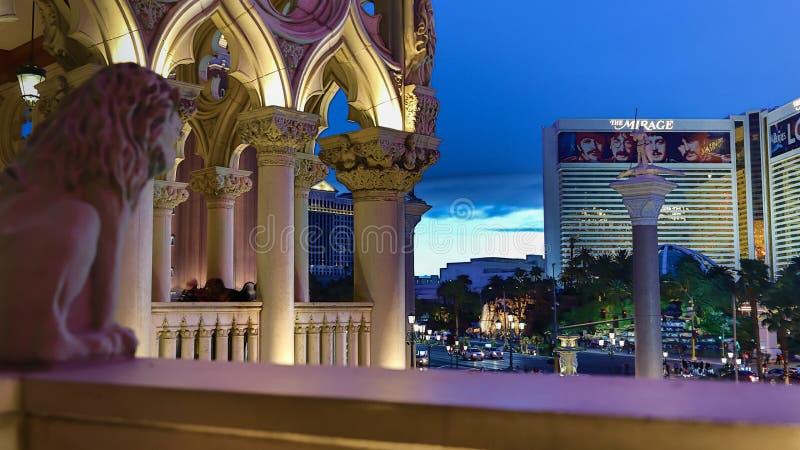 Venetian Casino. Las Vegas, Venetian Casino , overview, evening royalty free stock photography