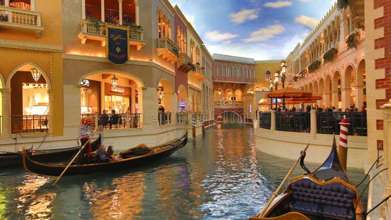 Venetian Casino. Las Vegas, Venetian Casino , overview, evening stock images