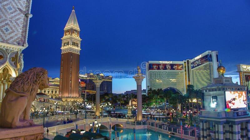 Venetian Casino. Las Vegas, Venetian Casino , overview, evening stock photo