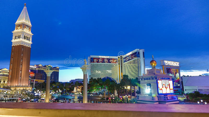 Venetian Casino. Las Vegas, Venetian Casino , overview, evening royalty free stock photo