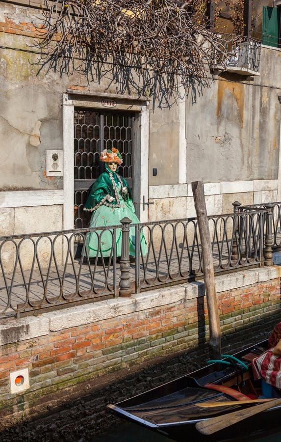Venetian Costume Editorial Photo